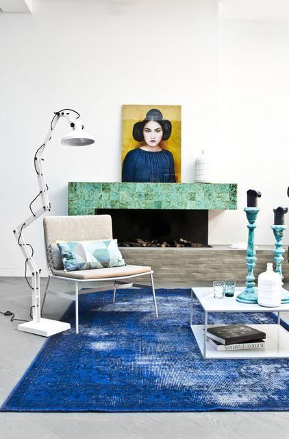 "Foto ""pinnata"" dalla nostra lettrice Anna Draicchio living, fireplace, blue"