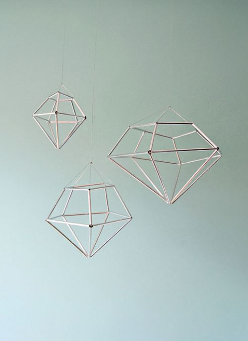 13 Cool DIY Geometrical Ornaments For Christmas | Shelterness