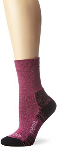 Bridgedale Womens WoolFusion Trail Socks Berry Medium -- Check out this great product.