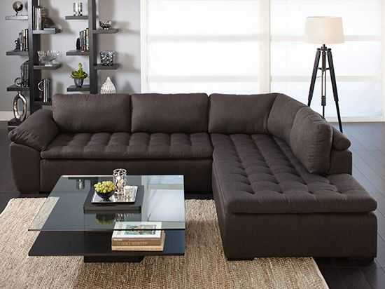 Plummers Sectional Sofas: Plummers Wellington 2-Piece Sectional In Brown