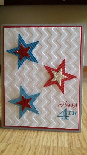Happy 4th Of July Stampin Up Wwwmidmostamping Would Also Make A Great Birthday Card