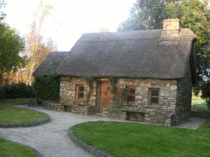 cottage roof traditional with irish in beautiful cottages thatch landscape ireland pin photograph