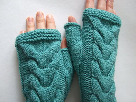 Knitted of 100 % WOOL. Handmade light TEAL by Ligitashop on Etsy