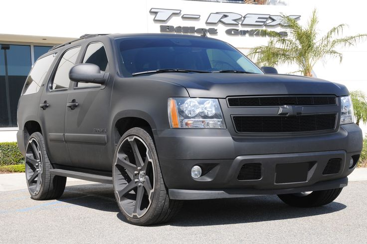 Matte Black Chevy Tahoe | Chevy tahoe, Chevy trucks