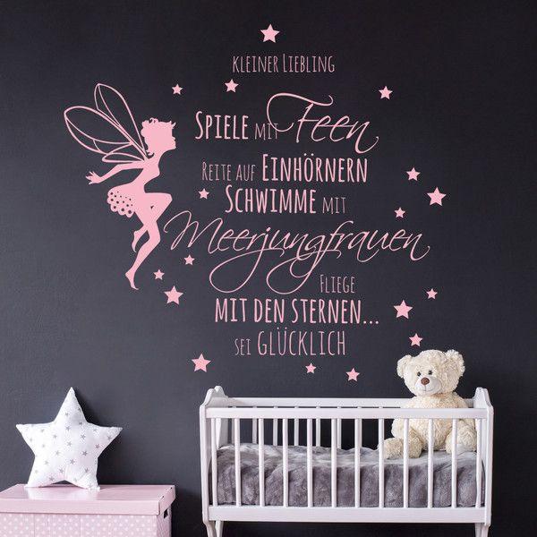 Wandtattoos - Wandtattoo Babyzimmer Spruch Elfe Feen Sterne 2014 - ein Designerstück von IlkaParey bei DaWanda