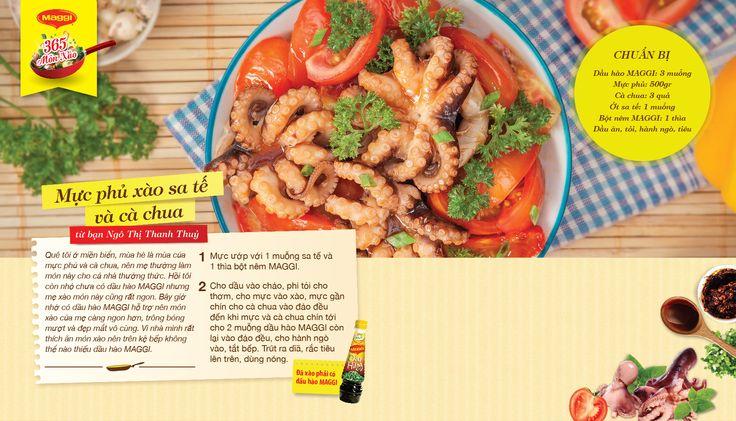 Món xào thắng giải ngày 12/4: Mực phủ xào sa tế và xà chua từ Ngô Thị Thanh Thuỷ. Tham gia góp món xào ngon tại www.365monxao.com để có cơ hội trúng nhiều giải thưởng hấp dẫn
