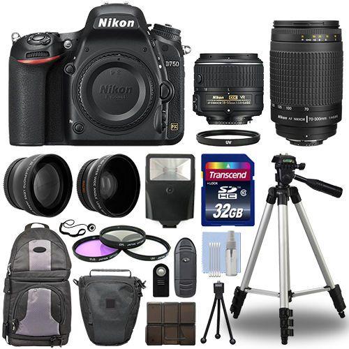 Nikon D750 Digital SLR Camera + 4 Lens Kit: 18-55mm VR + 70-300 mm + 32GB Kit http://zingxoom.com/d/cwHHJ7Tg