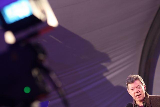 El encuadre perfecto: Presidente Juan Manuel Santos.  Crédito Miltón Ramírez/MinCultura 2012