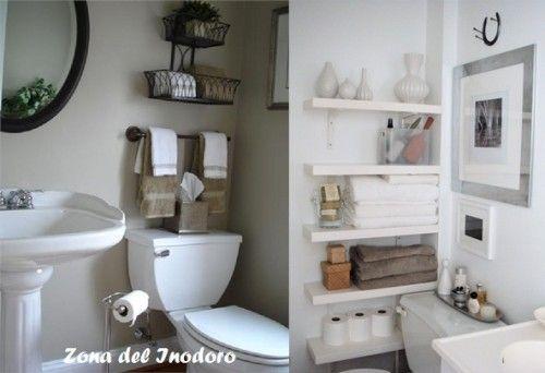Inodoro Baño Pequeno:Idea Para Organizar Bano