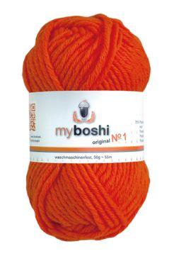 myboshi No.1 181 neonorange 70% Polyacryl und 30% Schurwolle (Merino) 3,75 €