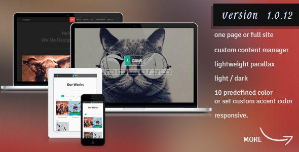 Asobar - Creative Business One Page WordPress Theme