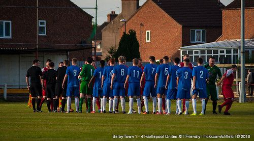 Selby Town 1 - 4 Hartlepool United XI https://www.flickr.com/photos/cliffefc/sets/72157668296842964 via cliffefc.com