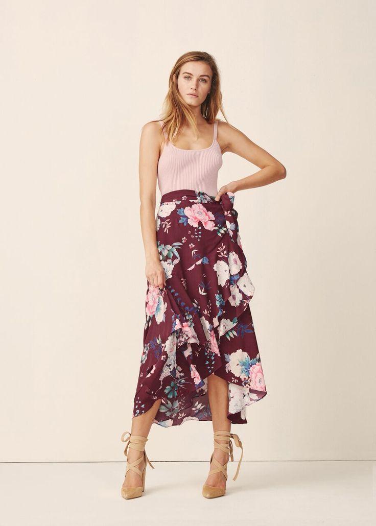 Steele - Peony Wrap Skirt