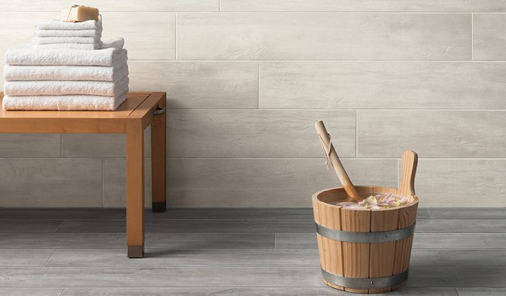 Passion 'Antique' and 'Ash' wood-effect Porcelain floor and wall tiles. Natural finish. Available in 15x90cm planks. #innovative #interiordesign #woodeffect #grey #antique #porcelain #tiles