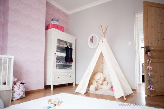 pink. teepee.Kids Room, Tipi Enfant, Nursery, Tipi Sur, Déco Babyloup