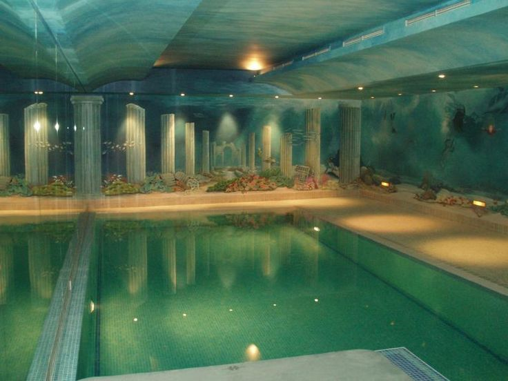 Underwater Mural Around Basement Pool Wetcanvas Dream