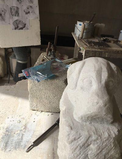 Lavorazione artistica in marmo