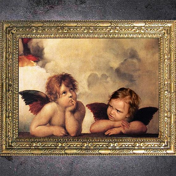 Custom Raphael Angels Digital Portrait From Your by dasfolDesign