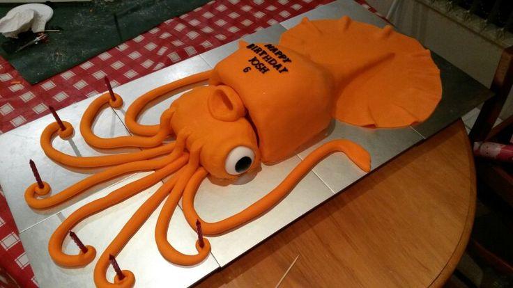 Squid cake
