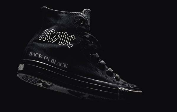 converse all star ac/dc back in black leather