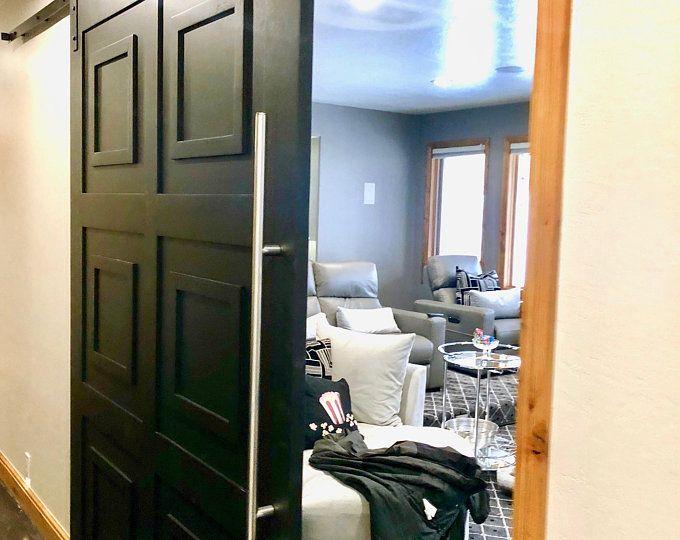 Custom Build Classic 4 Panel Sliding Barn Door Hinge Pocket Door Glass French Doors Barn Door Sliding Barn Door