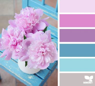 Really like the pink and blue combo here.
