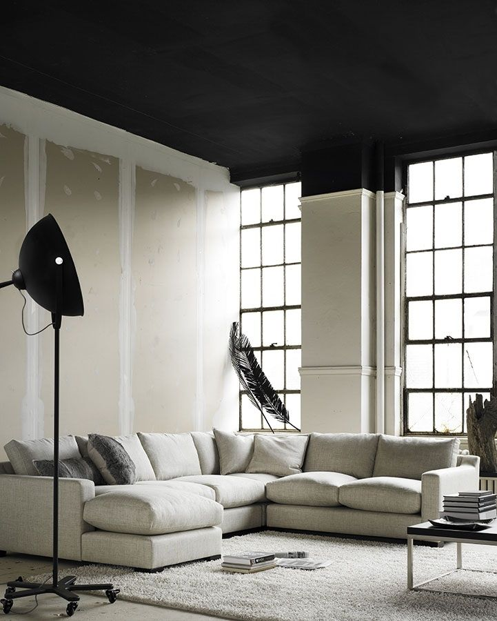 #Dublin sectional with feather seat& back; the ultimate luxury!