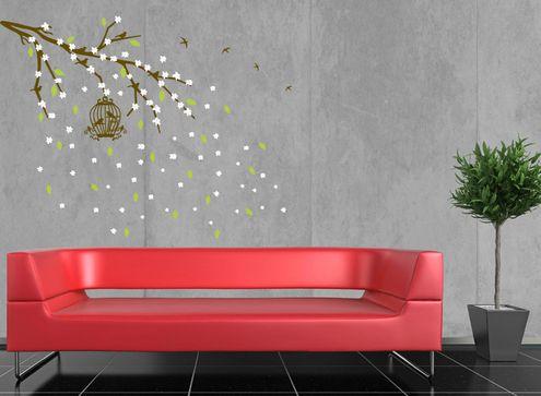 Αυτοκόλλητο τοίχου κλαδί αμυγδαλιάς