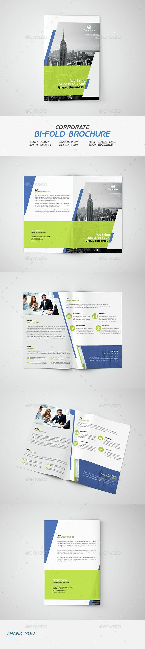 2 fold brochure template photoshop - corporate bi fold brochure brochures photoshop and business