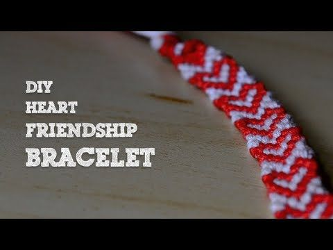 DIY Heart Friendship Bracelet - YouTube
