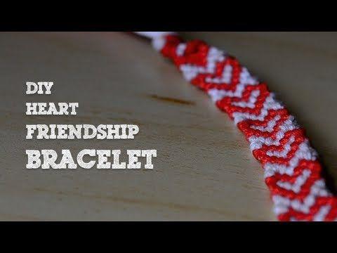 DIY Heart Friendship Bracelet - YouTube