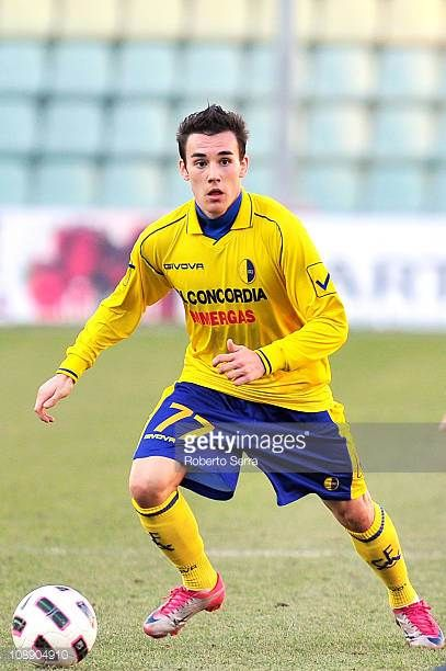 Cristian Pasquato of Modena in action during the Serie B match between Modena FC and FC Crotone at Alberto Braglia Stadium on February 5 2011 in...