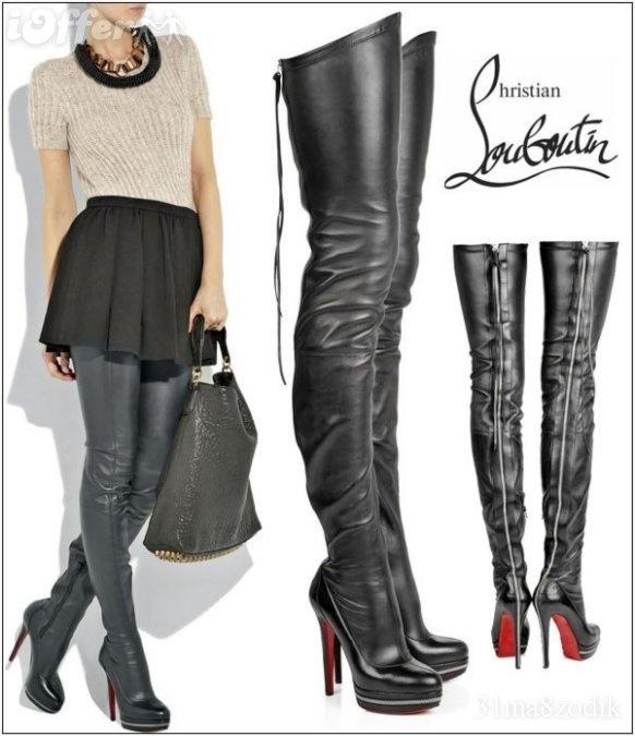 Louboutin Thigh High Boots