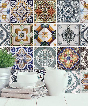Look at this #zulilyfind! Mediterranean Tiles Wall Decal Set #zulilyfinds