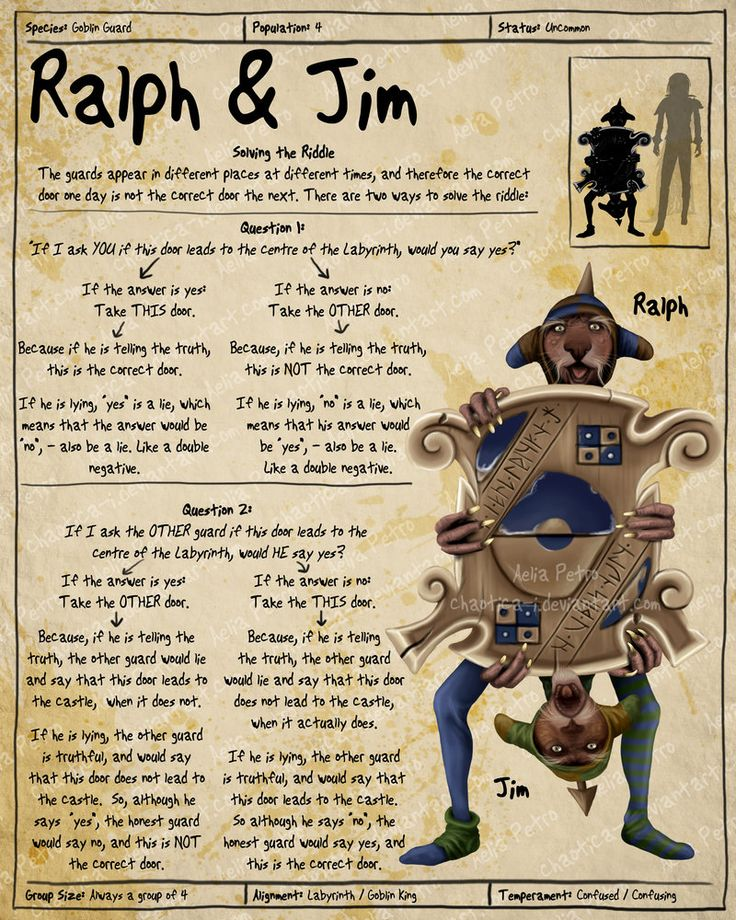 Labyrinth Guide - Ralph + Jim  by =Chaotica-I  Fan Art / Digital Art / Painting & Airbrushing / Movies & TV©2011-2012 =Chaotica-I