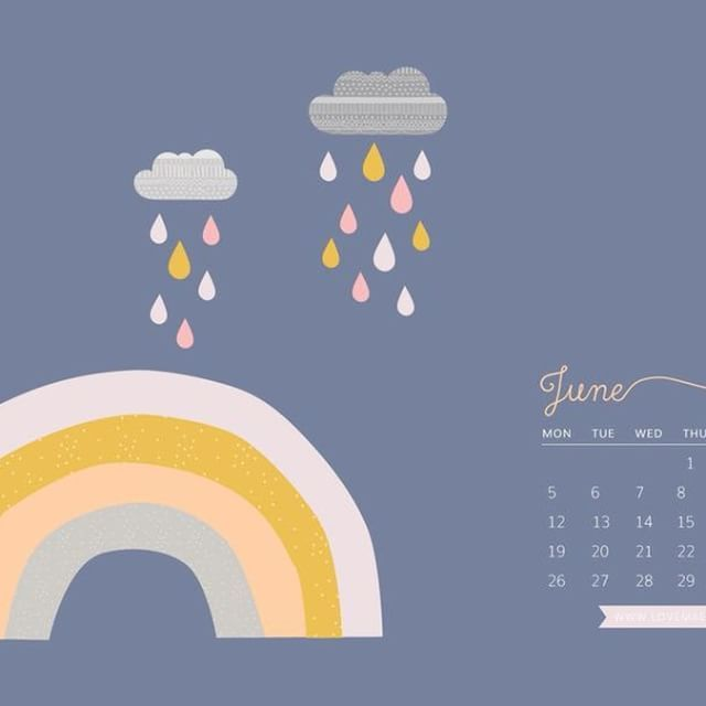 Can you believe it's already June?! Head to our blog to download this free desktop calendar for June  #lovemaestudio #rainbow