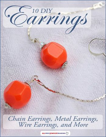 The 21 best jewelry making books images on pinterest diy jewellery 10 diy earrings chain earrings metal earrings wire earrings and more fandeluxe Images