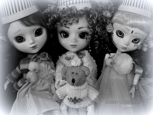 Mis tres elfitas os desean Feliz Navidad