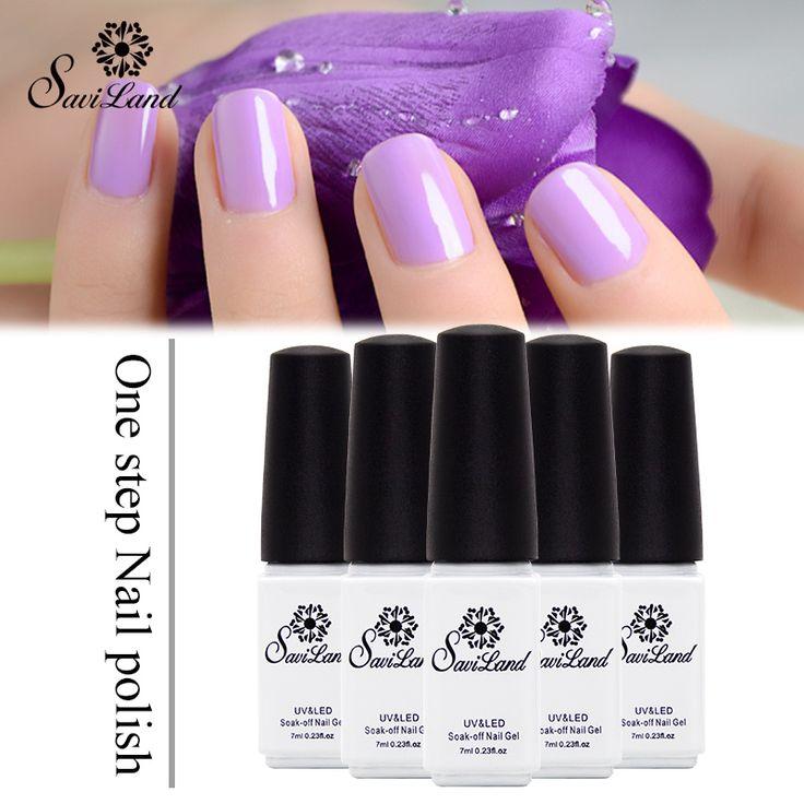 Saviland 1pcs One Step 3 in 1 Nail Gel Long Lasting Nail Art Esmalte Permanent Gel Varnish Soak Off UV Gel Nail Polish