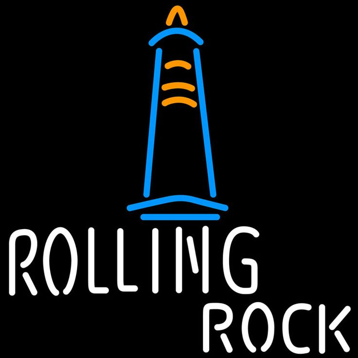 Rolling Rock Lighthouse Neon Beer Sign, Rolling Rock Neon Beer Signs & Lights   Neon Beer Signs & Lights. Makes a great gift. High impact, eye catching, real glass tube neon sign. In stock. Ships in 5 days or less. Brand New Indoor Neon Sign. Neon Tube thickness is 9MM. All Neon Signs have 1 year warranty and 0% breakage guarantee.