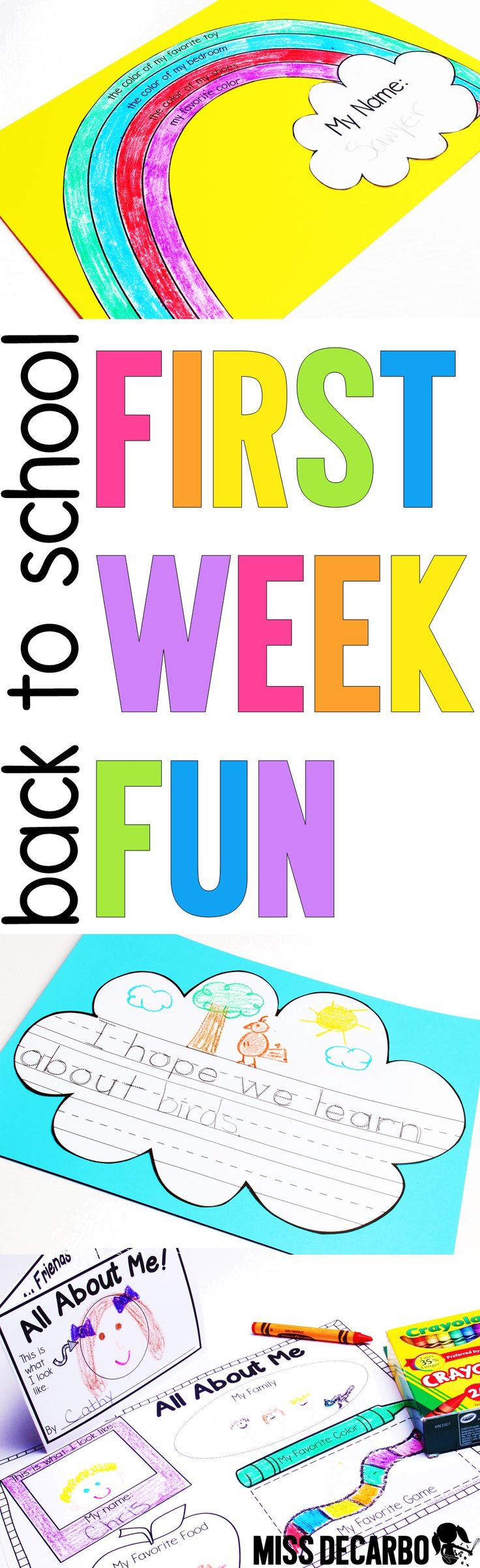 Poster design ideas for school - Back To School First Week Fun Pack