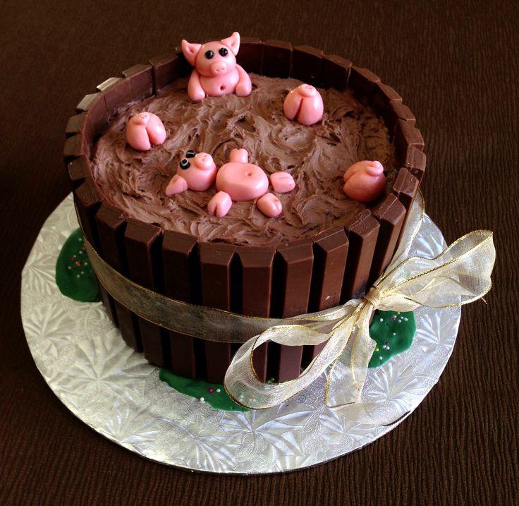 Mud Bath Birthday Cake