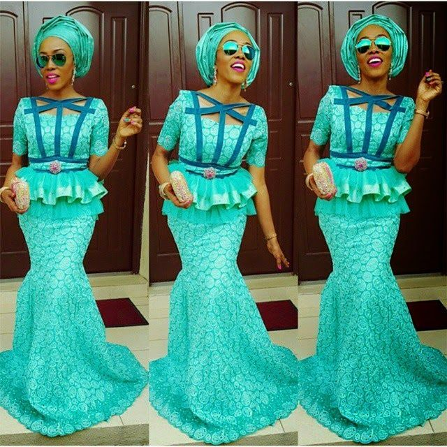 Top Ten Beautiful Aso Ebi Styles For Owambe Party - DabonkeFacebookTwitterEmail AppPinterestAddthis