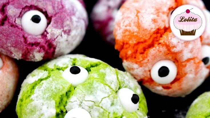 Receta de galletas monstruosas para Halloween | Galletas craqueladas | R...