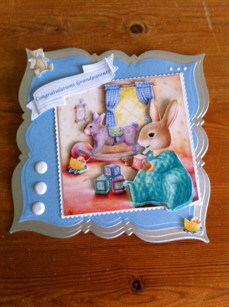 Go Kreate frilly frame 7 die,  topper from Hollypond Hill CD.