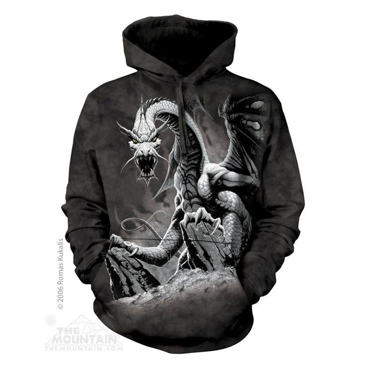 Black Dragon felnőtt zsebes kapucnis pulóver