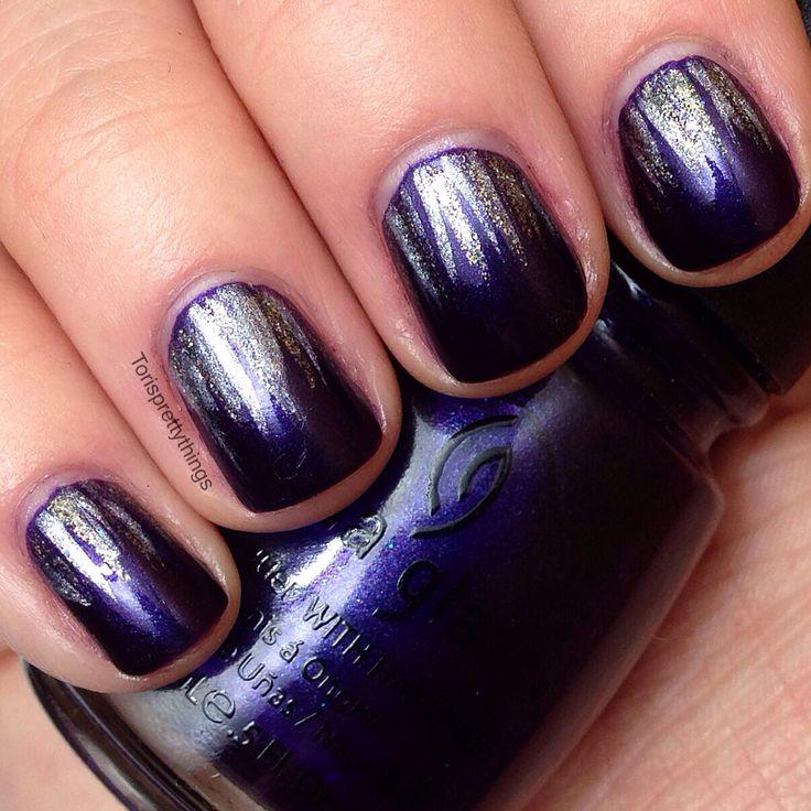 Winter Nails Purple Nails