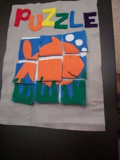 Quiet Book Ideas - a puzzle! So great! MUST make these for Cole and Nicholas!