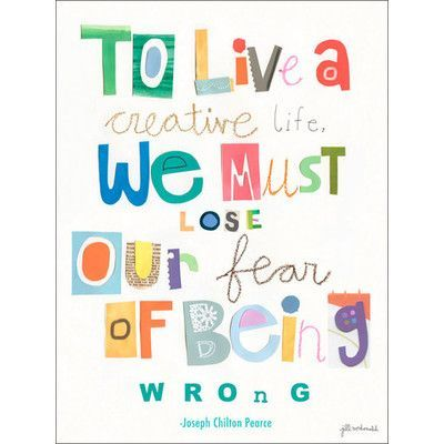 Oopsy Daisy To Live A Creative Life Canvas Art