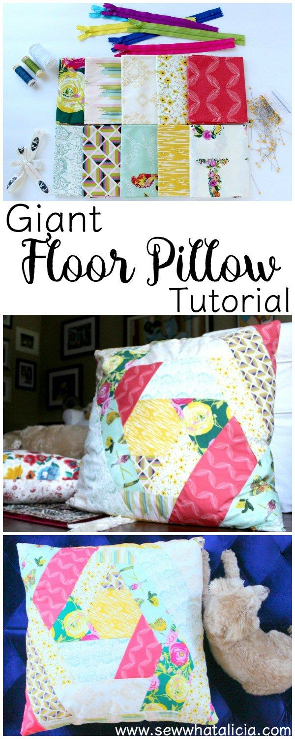 Giant Floor Pillow Tutorial & 83 best Cushion Covers and Pillowcases to Sew images on Pinterest ... pillowsntoast.com